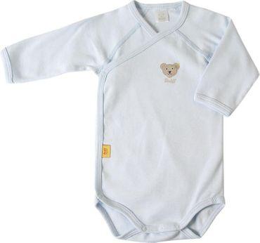 STEIFF® Baby Wickelbody Body Langarm Hellblau
