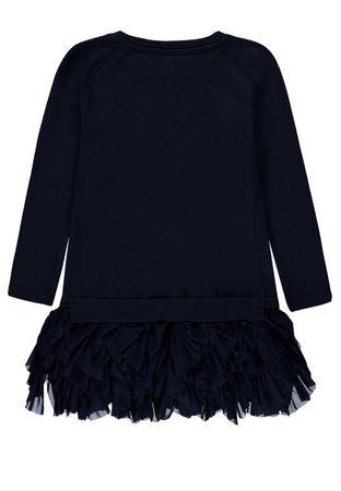 Königsmühle® Mädchen Sweat-Kleid Tüll-Rock Wende-Pailletten  – Bild 2