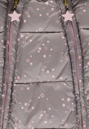 Kanz® Mädchen Schneeanzug Overall Teddyfutter Sterne – Bild 3