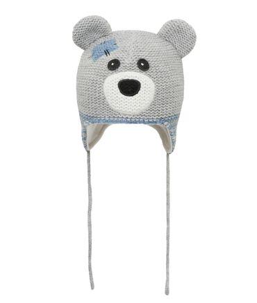 DÖLL® Jungen Inka-Bindemütze Strickmütze Bär  – Bild 1