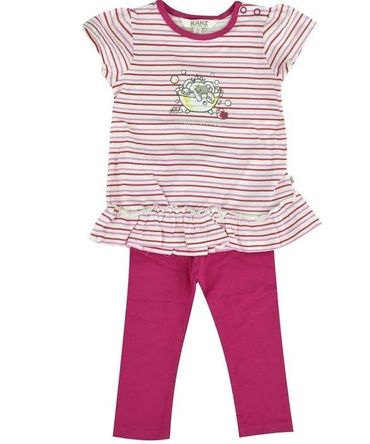 "Kanz® Baby Set Tunika und Leggings ""Wonneproppen"" Pink"