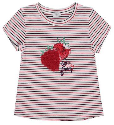 Königsmühle® Mädchen T-Shirt Erdbeere Ringel  – Bild 1