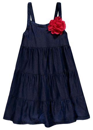 Königsmühle® Mädchen Jeans Träger-Kleid Blume – Bild 1