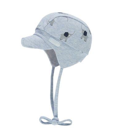 DÖLL® Baby Jungen Ballon-Bindemütze mit Shirm Elefant  – Bild 1