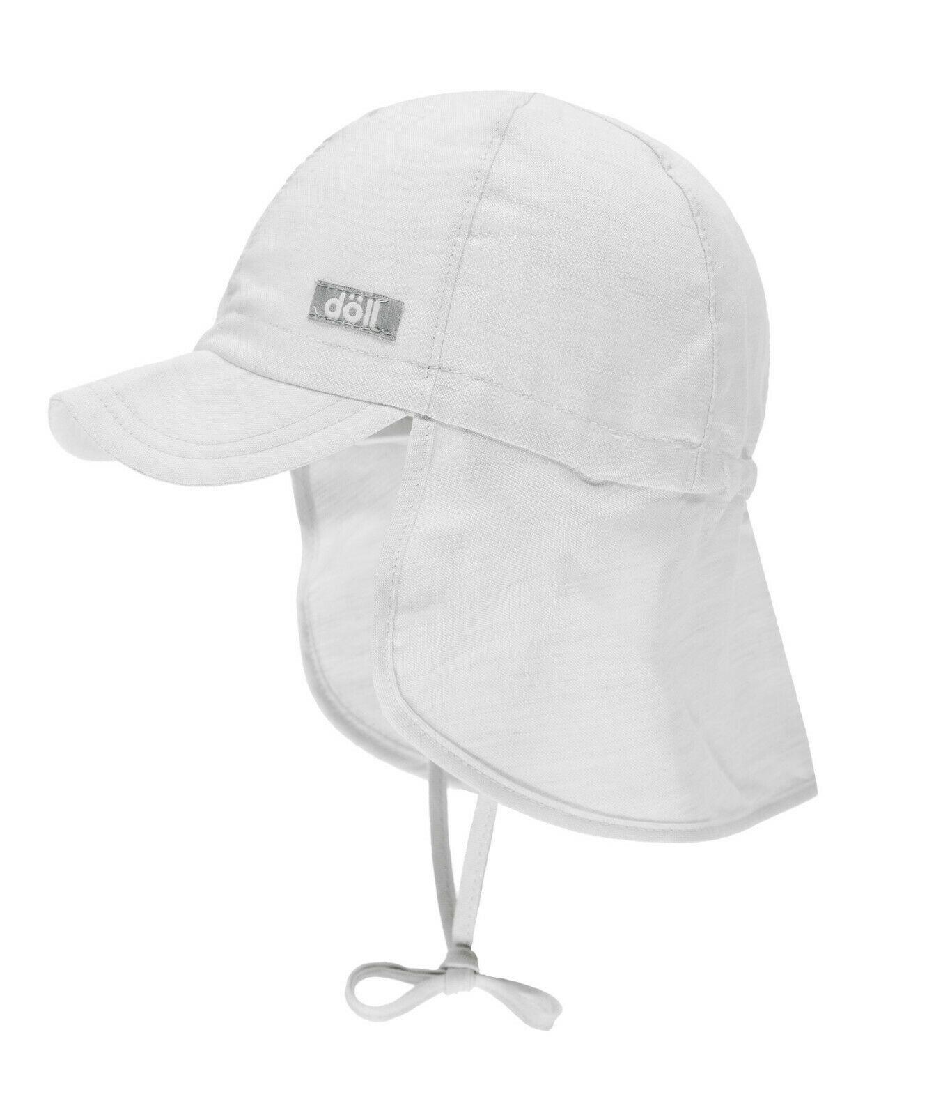 D/öll Baby-M/ädchen Bindem/ütze mit Schirm Leinen Sonnenhut
