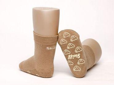 STEIFF® Anti-Rutsch Socken Fliesenflitzer Stopper Hausschuh Beige