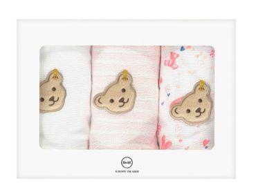 STEIFF® Mädchen 3er Set Mulltücher im Geschenkbox  – Bild 1
