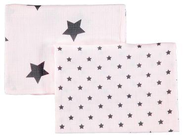 bellybutton® 2 teil. Set Mulltücher Spucktücher Sterne Rosa