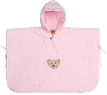 STEIFF® Frottee Badeponcho Kapuzentuch Rosa
