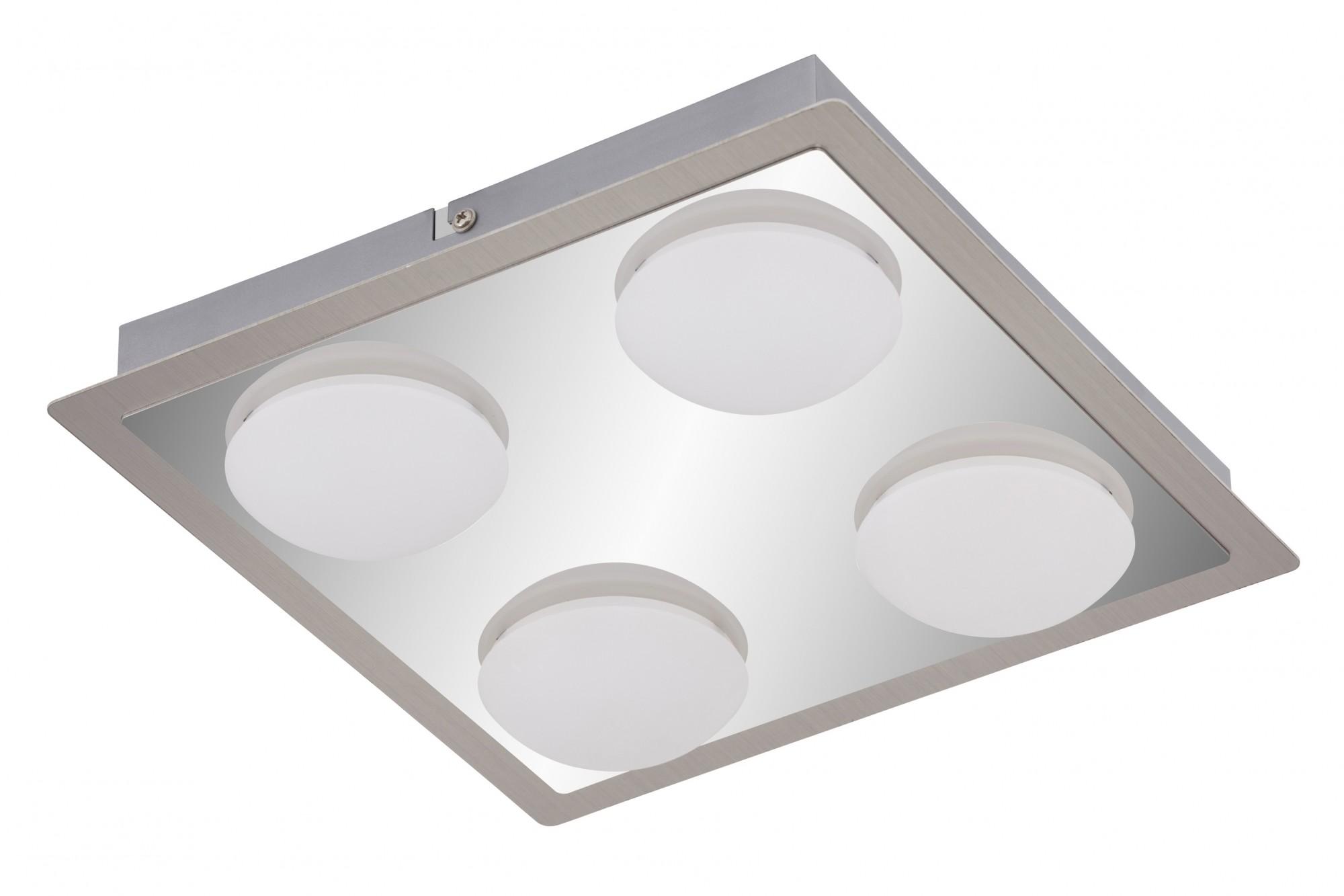 Led luce bagno lampada da soffitto cromo opaco nichel 4 fiamma