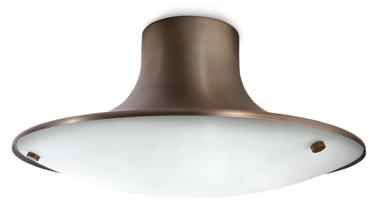 Plafoniere Con Lampade A Risparmio Energetico : Nuovo philips ecomoods plafoniera bronzo lampada da soffitto