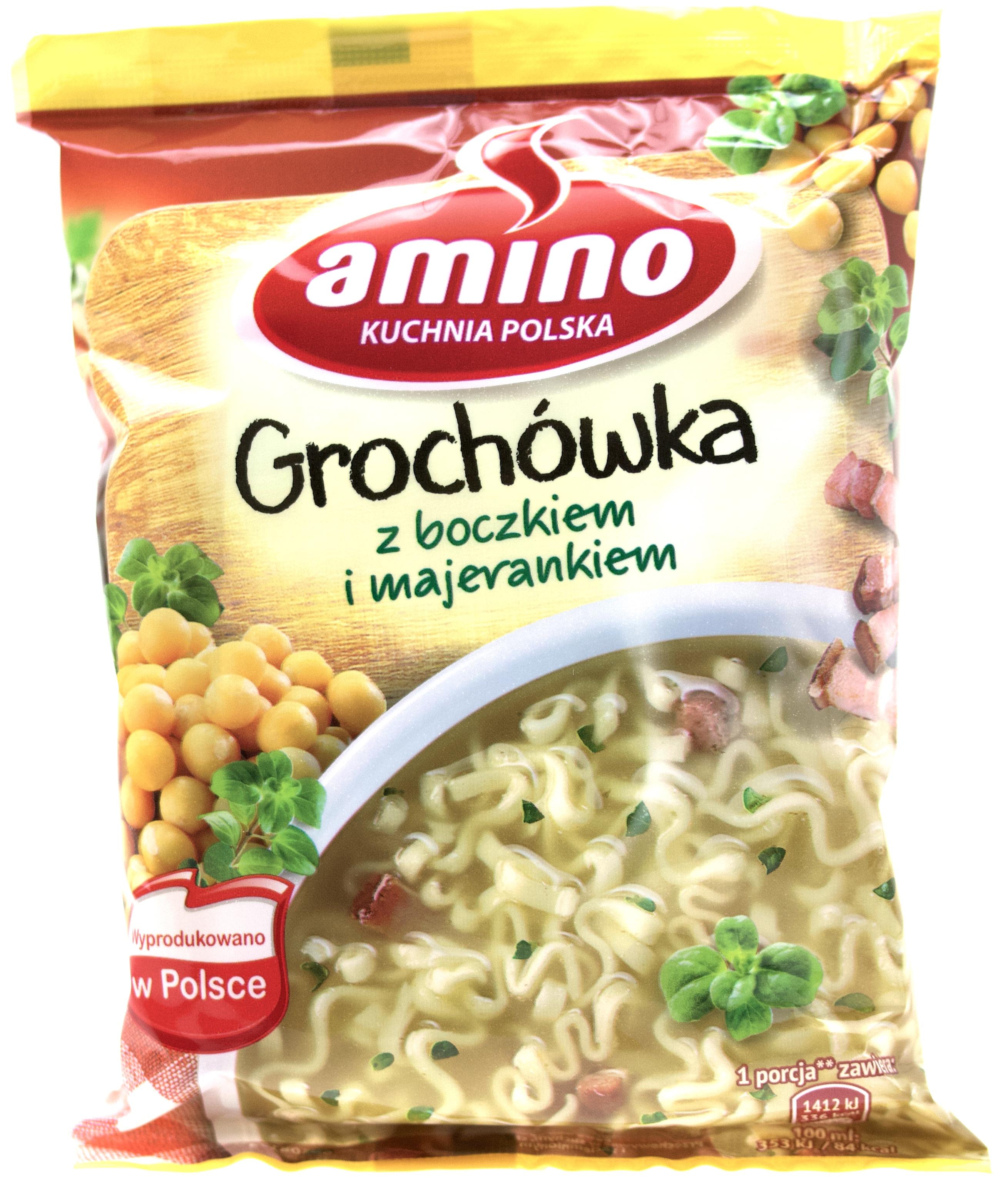 Amino Grochowa Z Boczkiem I Majerankiem 65g