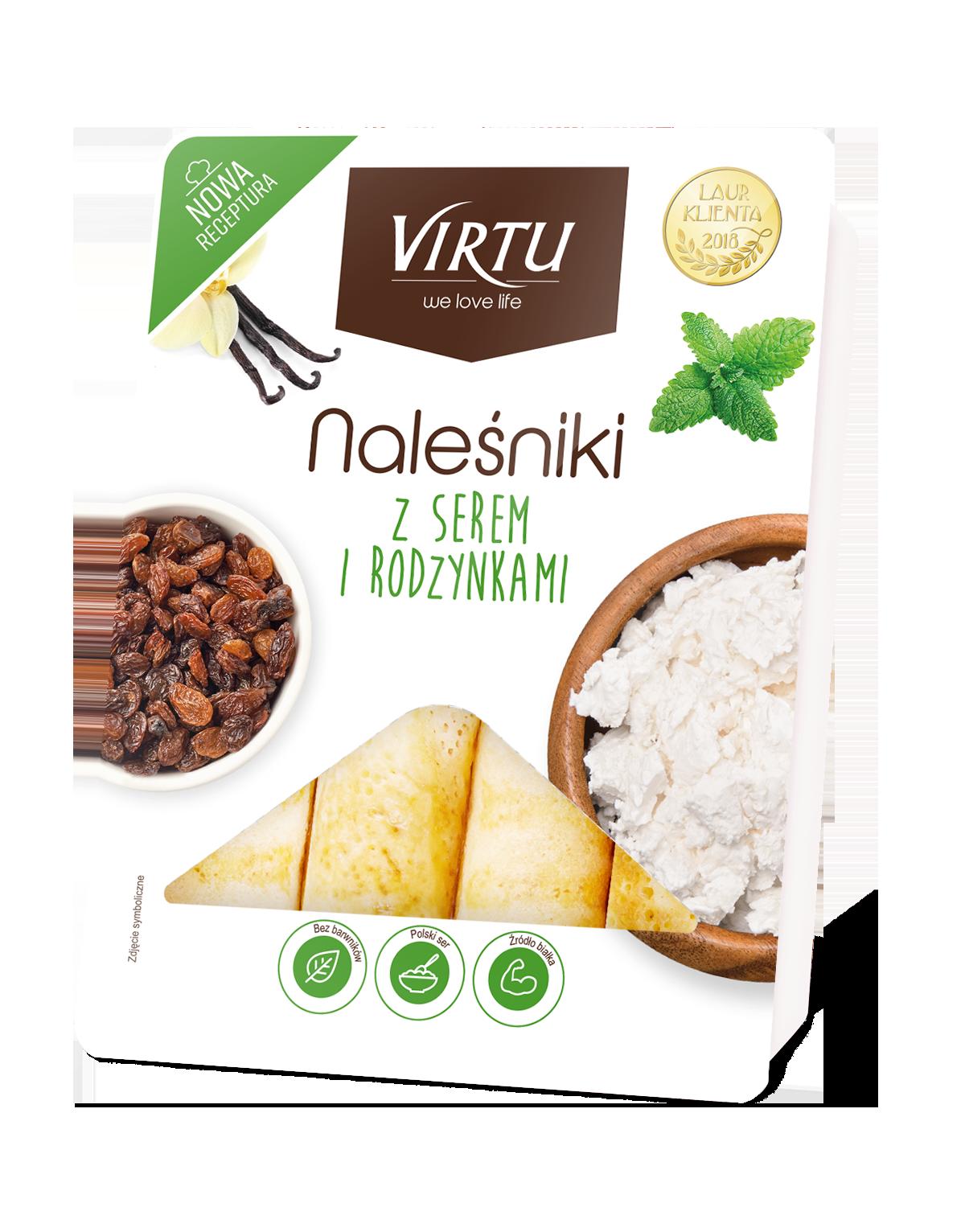 Virtu Pfannkuchen mit Quark und Rosinen 400g