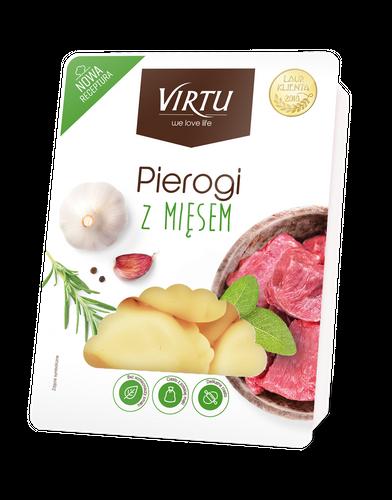 Virtu Pierogi polnische Maultaschen mit Fleisch 400g