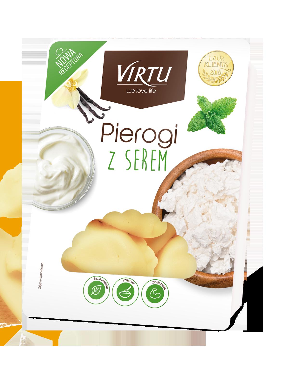 Virtu Pierogi polnische Maultaschen mit Quark 400g