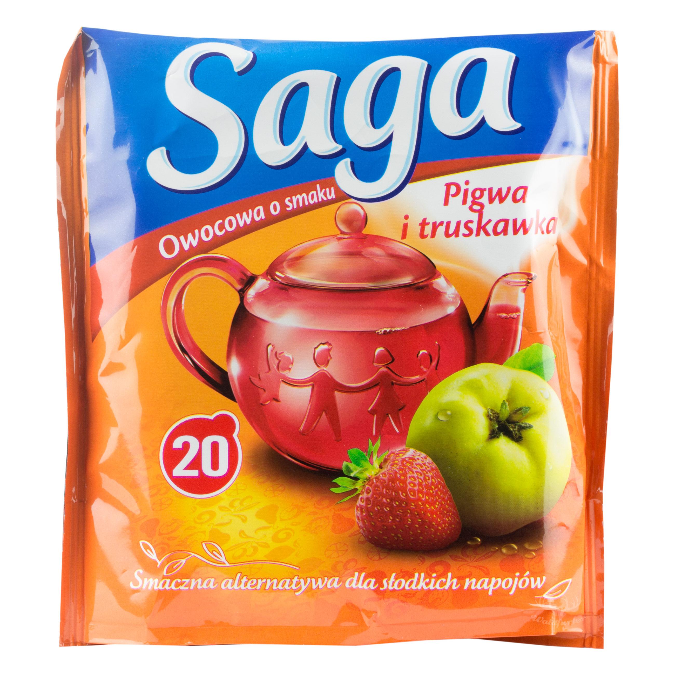 Saga Früchtetee mit Quitte und Erdbeere 20 Beutel