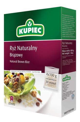 Natürlicher Brauner Reis 400g von Kupiec
