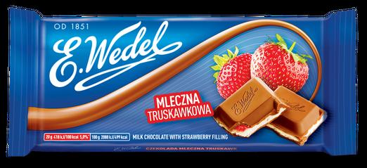 E. Wedel - Schokolade mit Erdbeerfüllung 100g