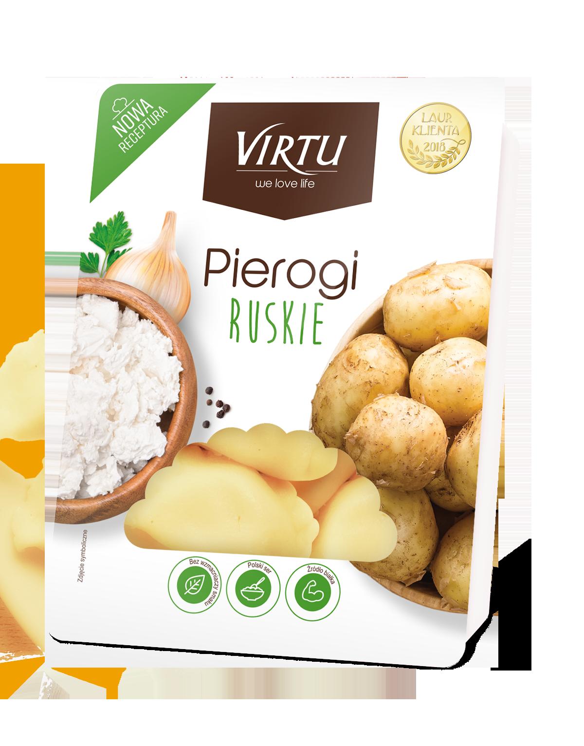 Virtu Pierogi polnische Maultaschen Russische Art (Quark und Kartoffel) 400g