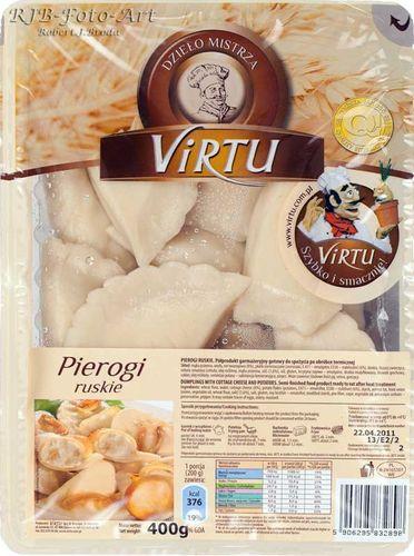 Virtu Pierogi polnische Maultaschen Russische Art (Quark und Kartoffel) 400g - 3