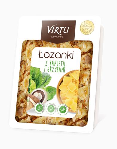 Virtu Lasanki - Polnisches Nudelgericht mit Kohl und Pilzen 400g