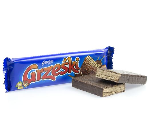Waffel Grzeski mit Schokoladengeschmack 36g von Goplana
