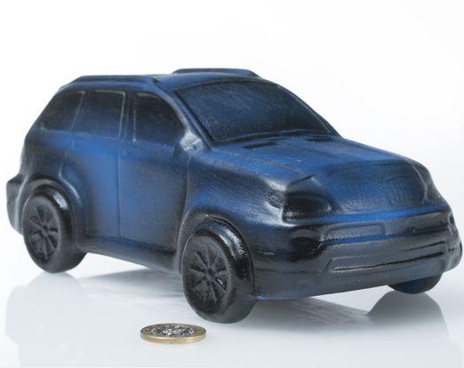 Keramik Auto - Bayern Renner | Keramik Spardose | B/L/H: 11x20,5x11cm
