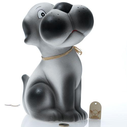 Bello -  Hund mit Schnute XXL | Keramik Spardose | B/L/H: 22x17x29cm