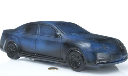 Keramik Auto - Der Italiener | Keramik Spardose | B/L/H: 36x14,5x11cm
