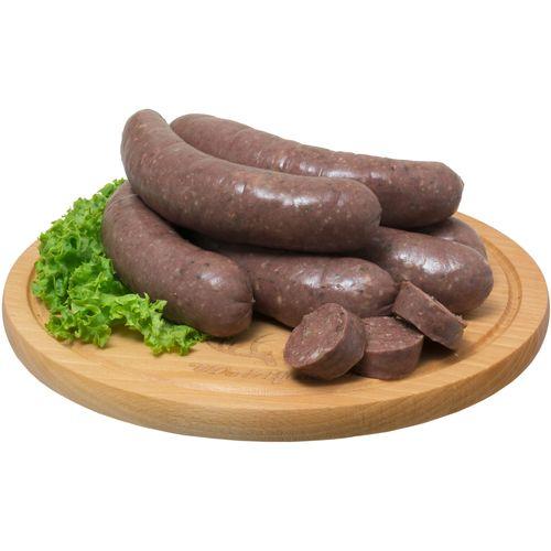 Poliwczak Semmelwurst dunkel 0,5Kg Grobe Brühwurst aus Schweinefleisch, Graupen und Schweineblut