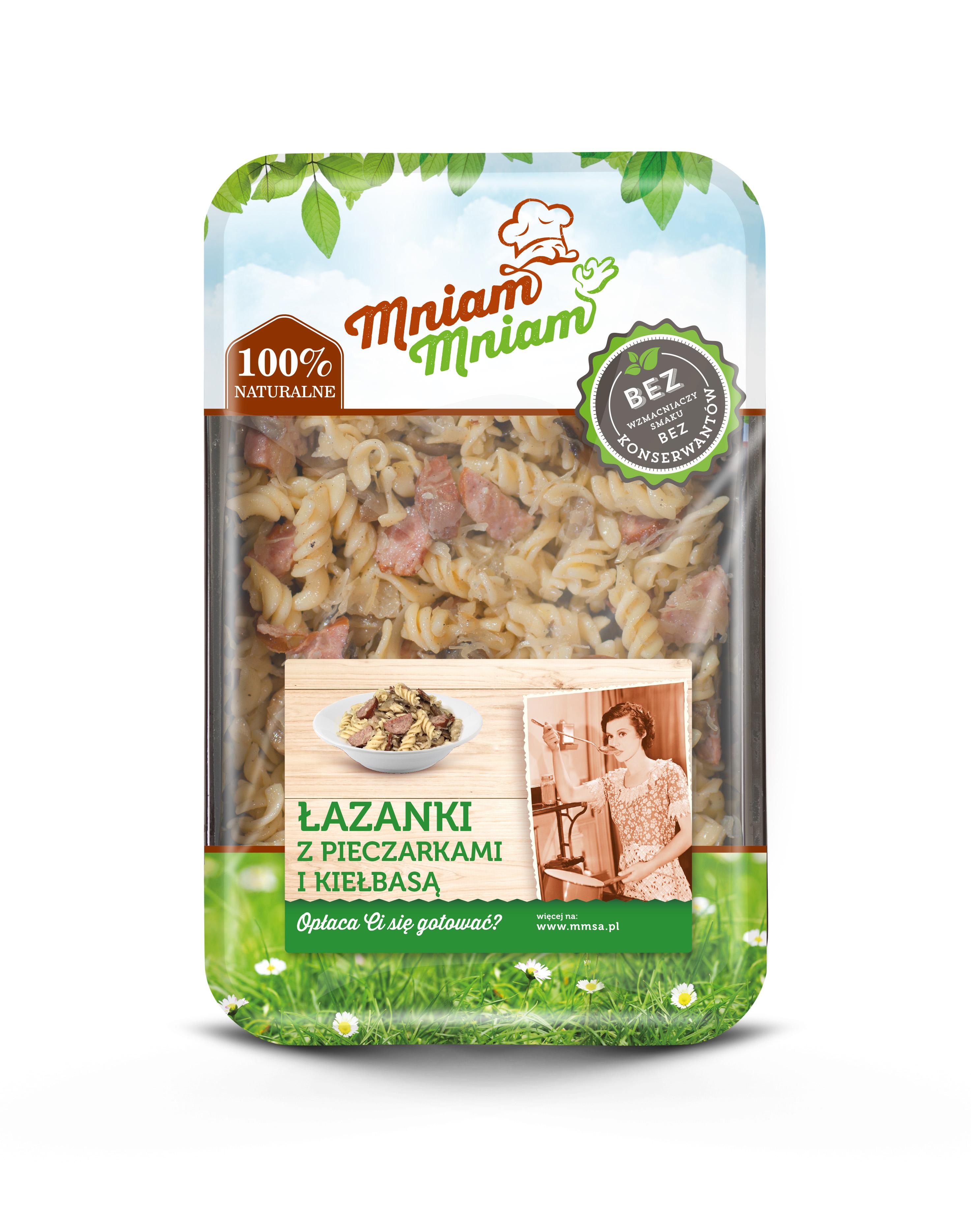 Lasanki - Polnisches Sauerkraut mit Wurst und Pilzen - Nudeln Gericht 400g Handgemacht von MniamMniam
