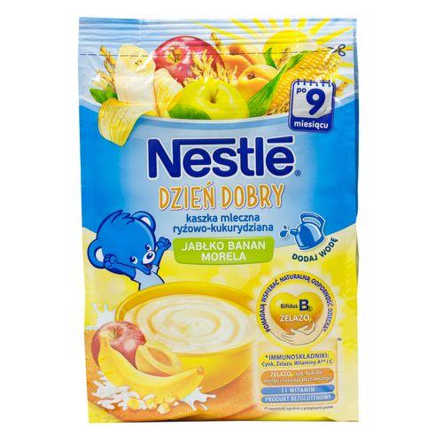 Nestle Guten Morgen Brei Milch, Reis und Mais mit Apfel, Banane und mit Aprikosengeschmack 230g
