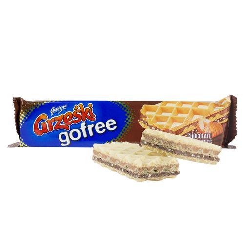 Grzeski gofree mit Schokoladengeschmack und Haselnüsse 33g von Goplana