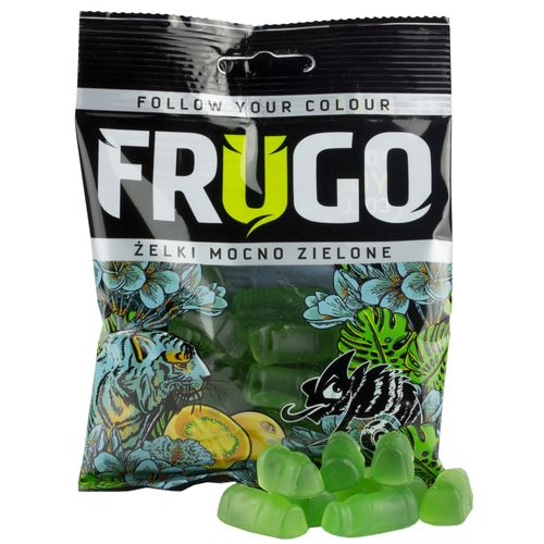 Gummibonbons intensiv Grün 90g Frugo
