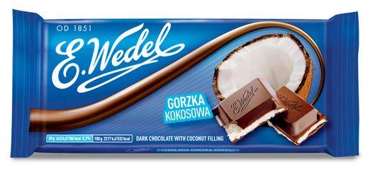 E.Wedel Zartbitterschokolade mit Kokosfüllung 100g