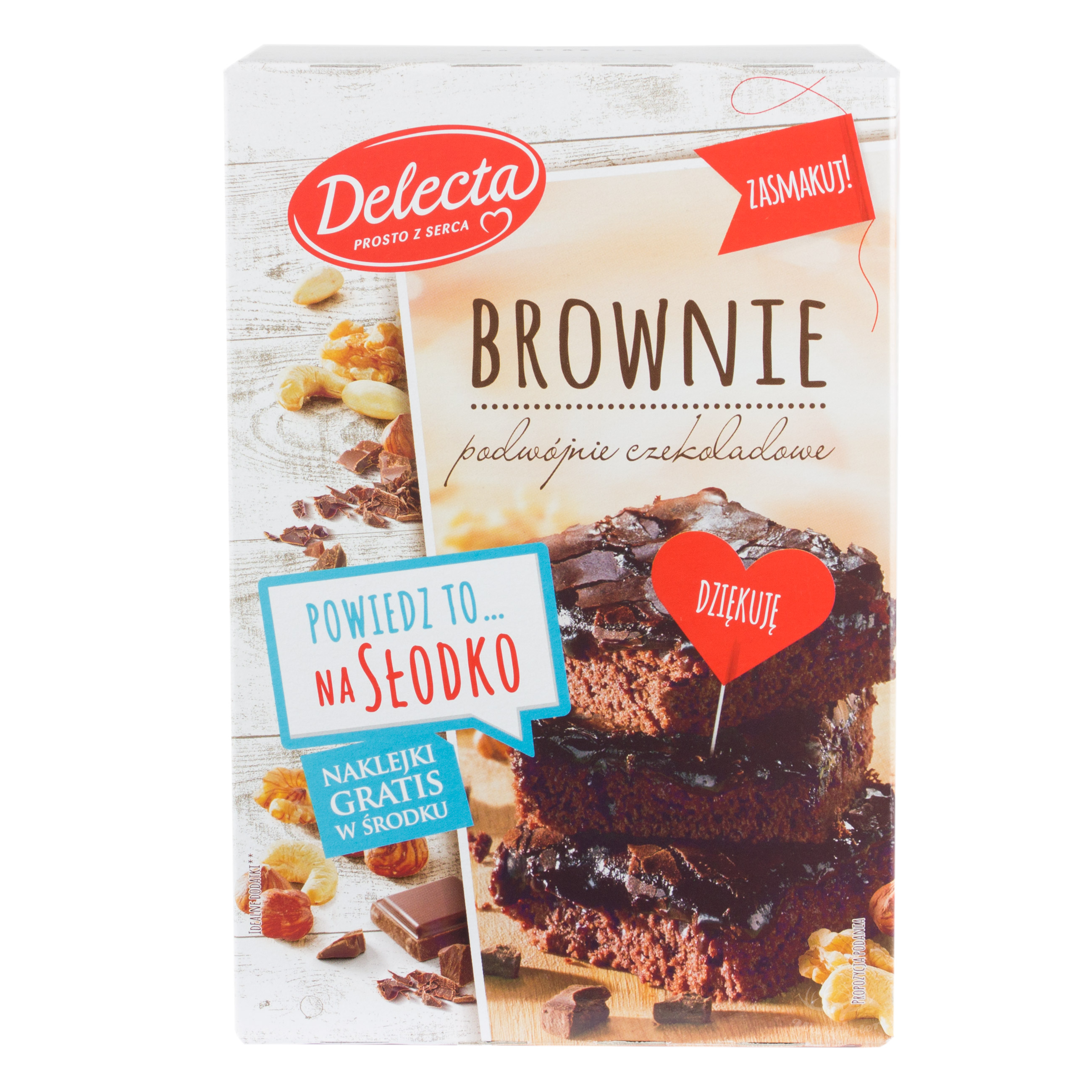 Delecta Brownie Kuchen Doppelschokolade 550g Polnische Desserts