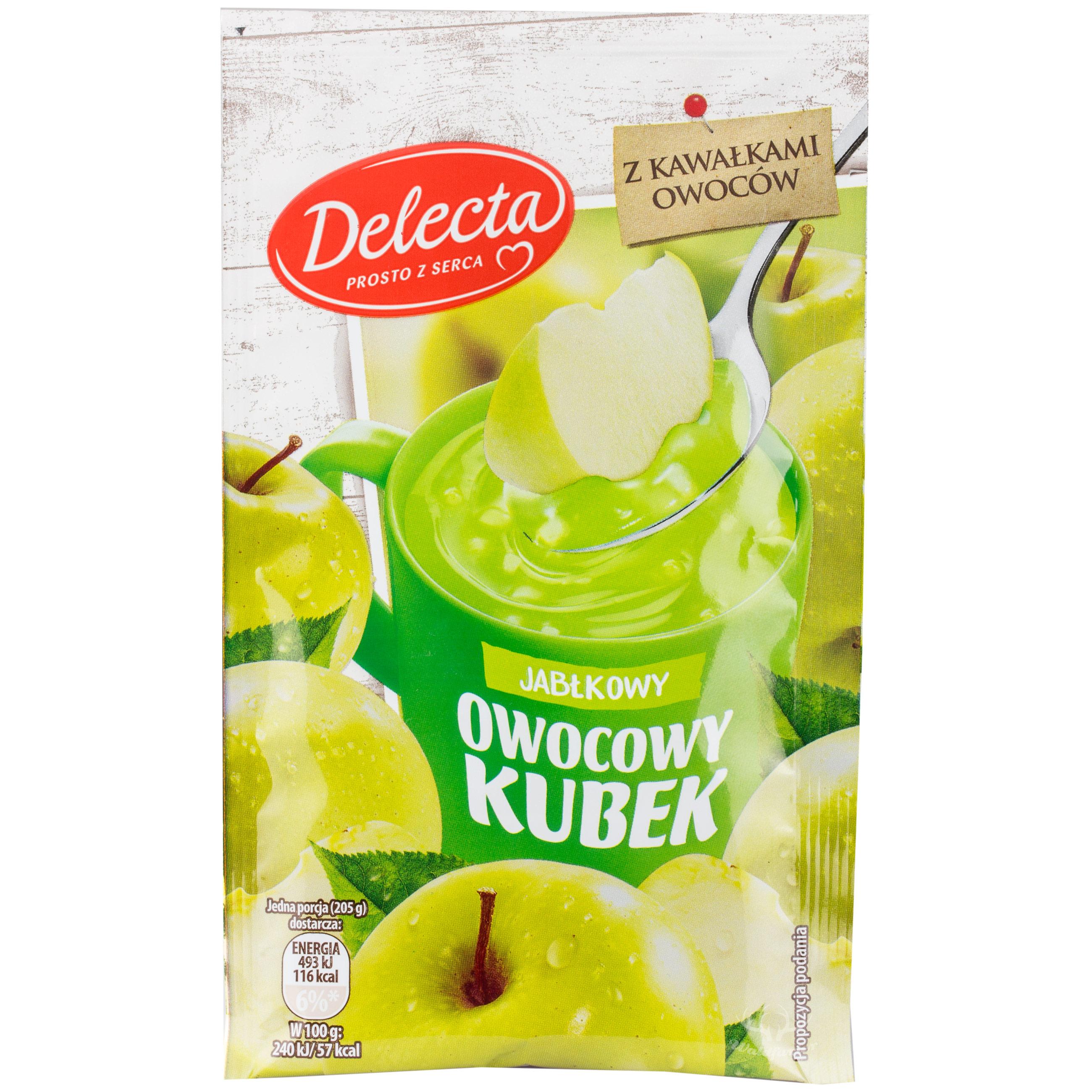 Delecta Gelee mit Apfelgeschmack 30g Obstbecher
