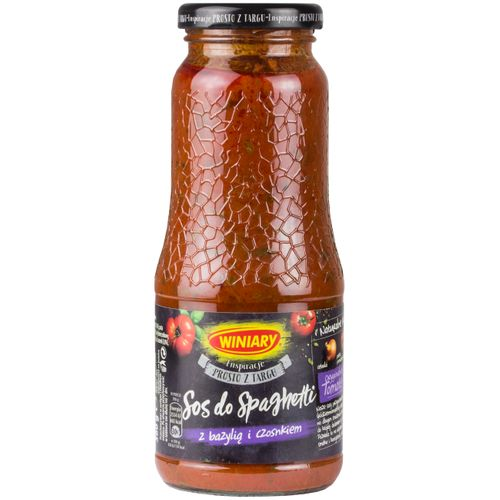 Winiary Spaghetti-Sauce mit Basilikum und Knoblauch 360g