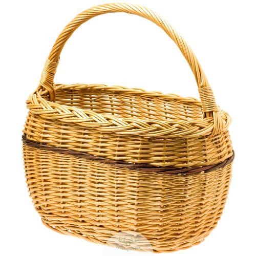 Rotkäppchen Korb |  Picknickkorb | B/L/H: 28x42x43cm // Kosz Czerwony Kapturek | kosz wiklinowy