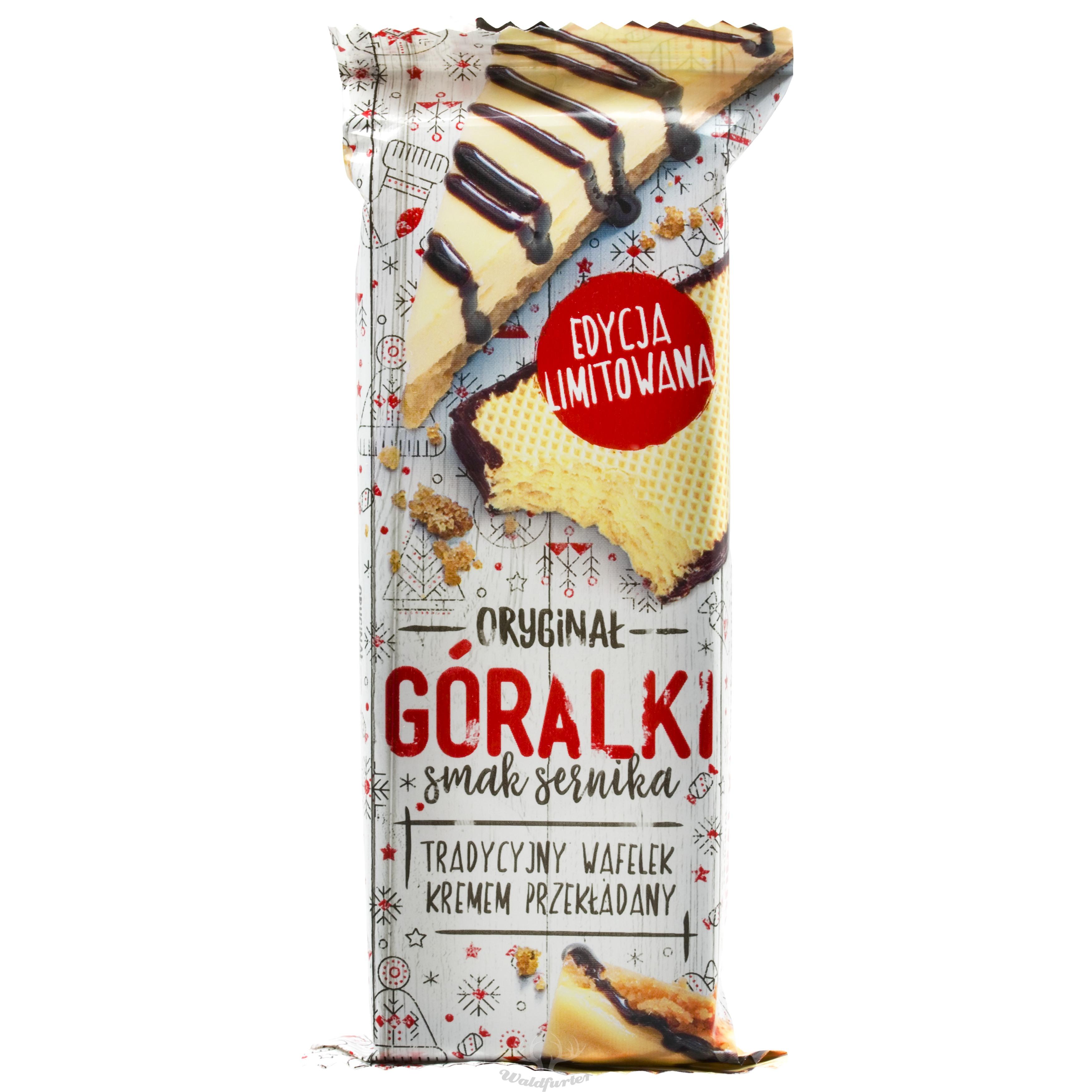 Goralki Waffel  mit Käsekuchengeschmack 50g   //  Goralki Wafelek  o smaku sernika 50g