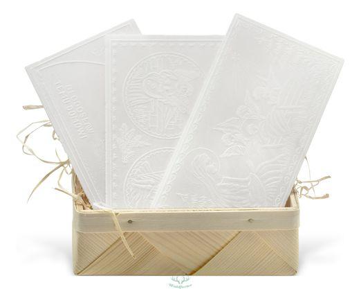 Polnische Weihnachtsoblaten 3 Stück im Päckchen Oblaten - Oplatki - Oplatek - 3