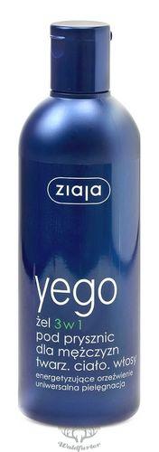 ZIAJA Yego 3 in 1 Duschgel für Männer Gesicht, Körper, Haare 300ml