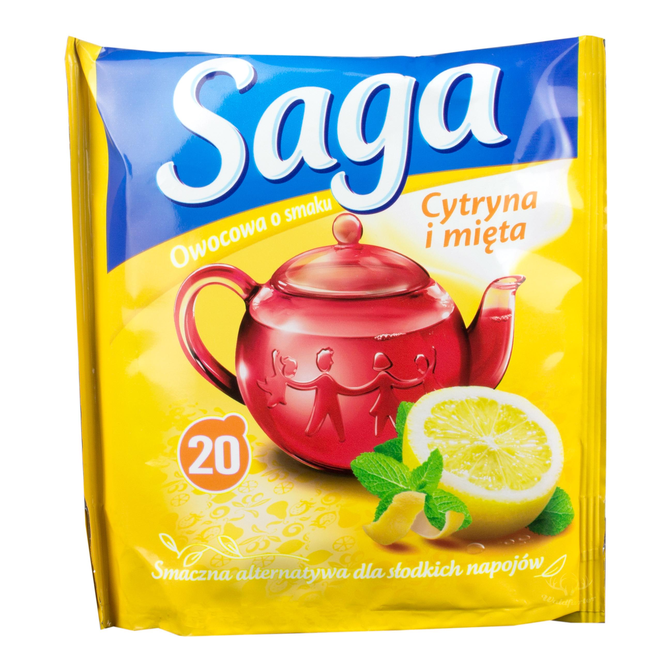 Saga Früchtetee mit Zitrone und Minze 20 Beutel