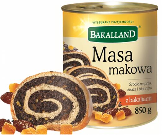 Bakalland Kuchenmasse - Mohn 850g