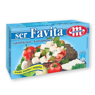 Frischkäse Favta 18% von Mlekovita 270g