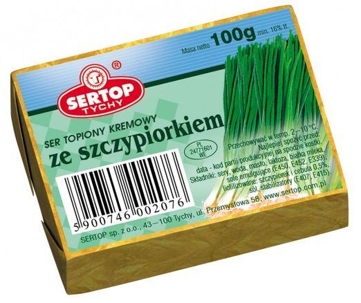 Sertop Weichkäse mit Schnittlauch und Zwiebel 100g