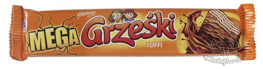 Goplana Grzeski Mega - Riegel Toffee in Schokolade 48g