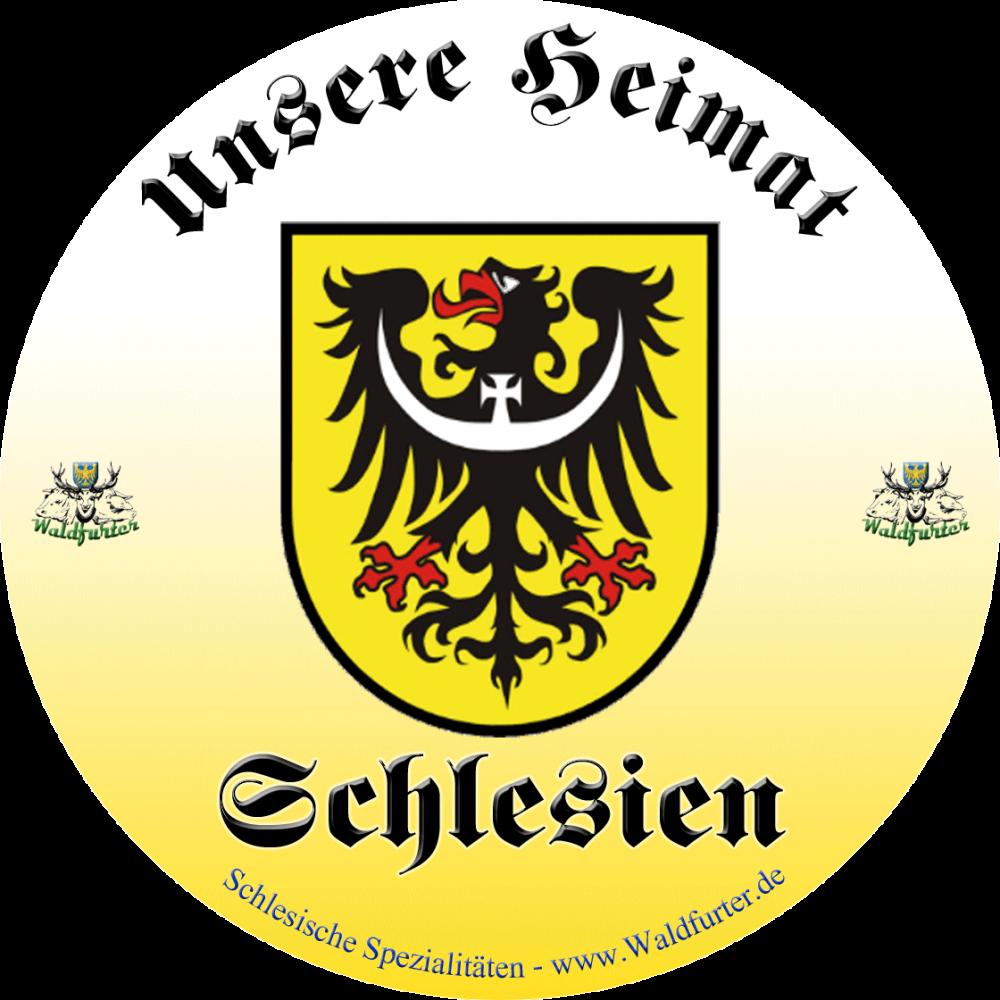 Schlesien unsere Heimat - Aufkleber 100mm Wetterfest