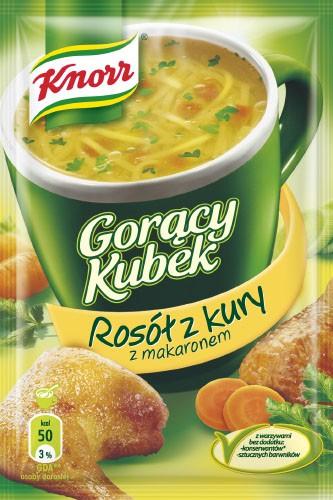 Knorr Heiße Tasse Hühnerbrühe mit Nudeln 12g