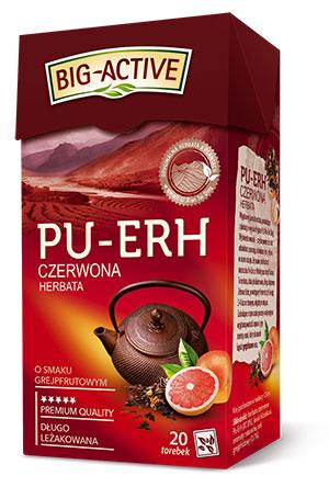 PU-ERH Roter Tee mit Grapefruitaroma 20 Beutel von BIG-ACTIVE
